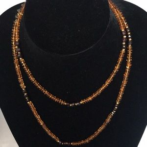 Jewelry - Vintage Lariat Amber Beads Necklace